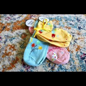 NWT Kids Party Birthday Balloon Pink Yellow Socks